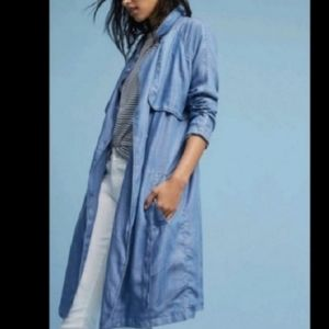 NWOT Anthropologie Second Female chambray duster
